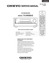Manual de servicio Onkyo TX-NR900/E