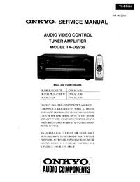 Manual de serviço Onkyo TX-DS939