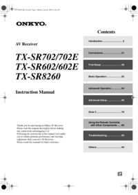 Manual del usuario Onkyo TX-SR8260