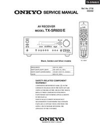 Руководство по техническому обслуживанию Onkyo TX-SR600