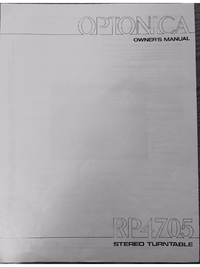User Manual Optonica RP4705