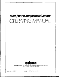 Service and User Manual Orban 412A