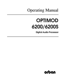 Service and User Manual Orban 6200