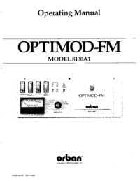 Service and User Manual Orban OPTIMOD-FM 8100A1