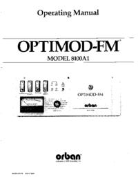 Service-en gebruikershandleiding Orban OPTIMOD-FM 8100A1
