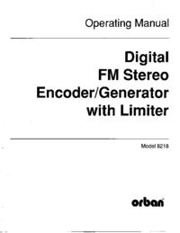 Service-en gebruikershandleiding Orban 8218