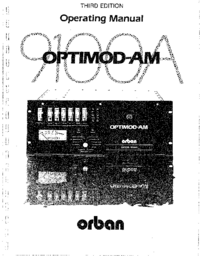 Servicio y Manual del usuario Orban OPTIMOD-AM 9100A