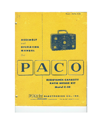 User Manual Paco C-20