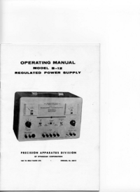 User Manual with schematics Paco B-12