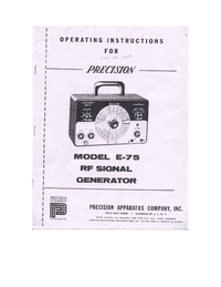 User Manual with schematics Paco E-75