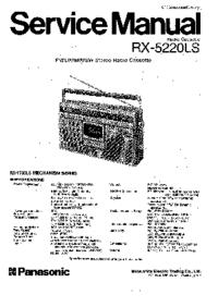 Service Manual Panasonic RX-5220LS