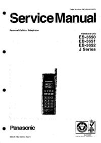 Service Manual Panasonic EB-3651