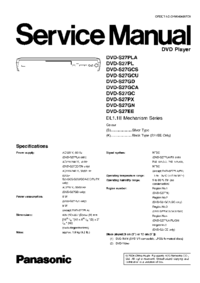 Service Manual Panasonic DVD-S27GD