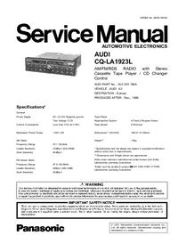 Serviceanleitung Panasonic AUDI Concert CQ-LA1923L