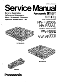Service Manual Panasonic NV-FS88