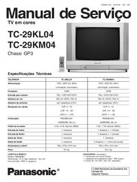 Servicehandboek Panasonic TC-29KL04