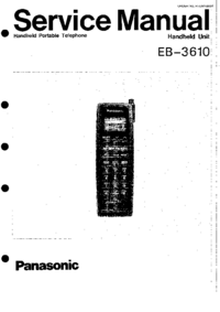 Manual de servicio Panasonic EB-3610