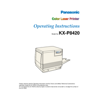 User Manual Panasonic KX-P8420