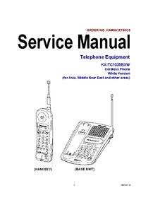 Manual de serviço Panasonic KX-TC1035BXW