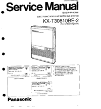 Manual de servicio Panasonic KX-T30810BE-2