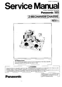 Service Manual Panasonic Z-Mechanism