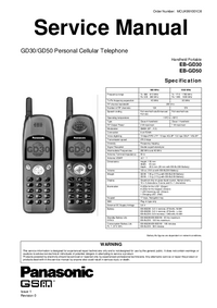 Service Manual Panasonic GD50