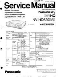 Service Manual Panasonic NV-HD620