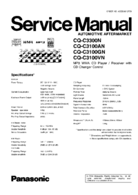 Service Manual Panasonic CQ-C3300N