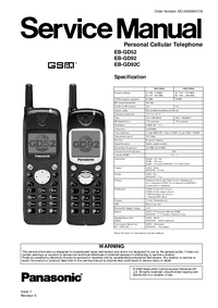 Service Manual Panasonic EB-GD52