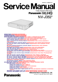 Servicehandboek Panasonic NV-J35