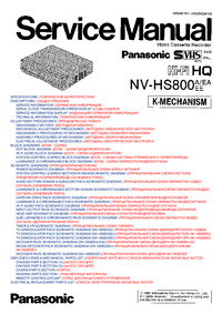 Service Manual Panasonic NV-HS800A