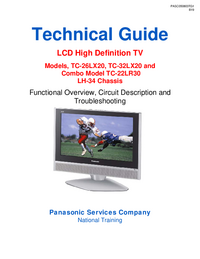 Service Manual Panasonic TC-26LX20