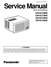 Service Manual Panasonic CW-XC143HU