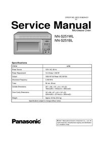 Manual de servicio Panasonic NN-S251WL
