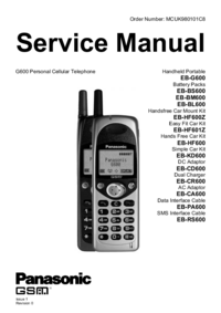 Manual de servicio Panasonic EB-KD600
