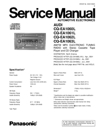 Manual de servicio Panasonic CQ-EA1060L