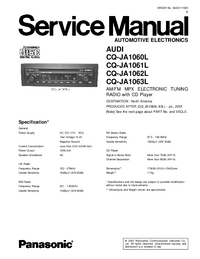 Service Manual Panasonic CQ-JA1060L
