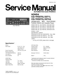 Manual de servicio Panasonic CQ-YH5070L