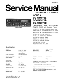 Manual de servicio Panasonic CQ-YH0070B