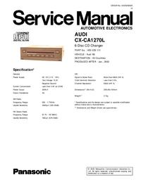 Service Manual Panasonic CX-CA1270L