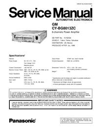 Instrukcja serwisowa Panasonic CY-BG8013ZC