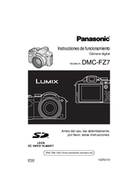 Manual del usuario Panasonic DMC-FZ7