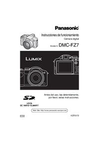 User Manual Panasonic DMC-FZ7