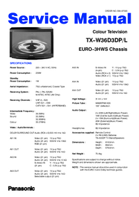 Service Manual Panasonic TX-W36D3DP/L