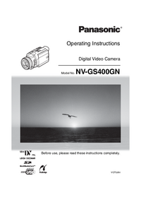 User Manual Panasonic NV-GS400GN