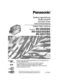 User Manual Panasonic NV-GS17EG