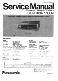 Service Manual Panasonic CQ-FX88