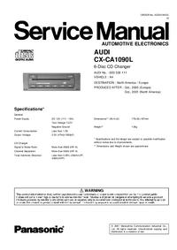 Instrukcja serwisowa Panasonic 8E0 035 111