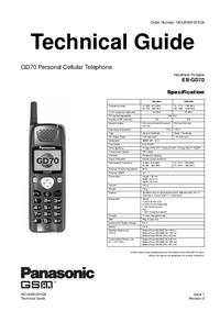 manuel de réparation Panasonic GD70