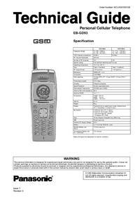 manuel de réparation Panasonic GD93